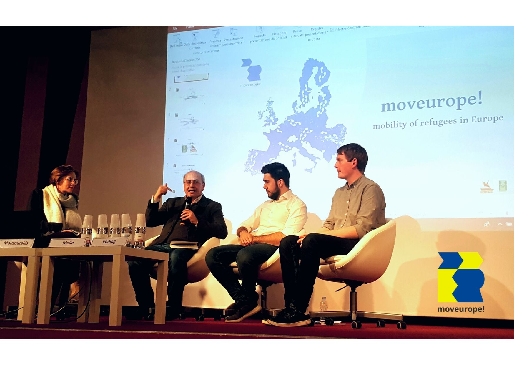 Presentation of the concept of moveurope! in Milan