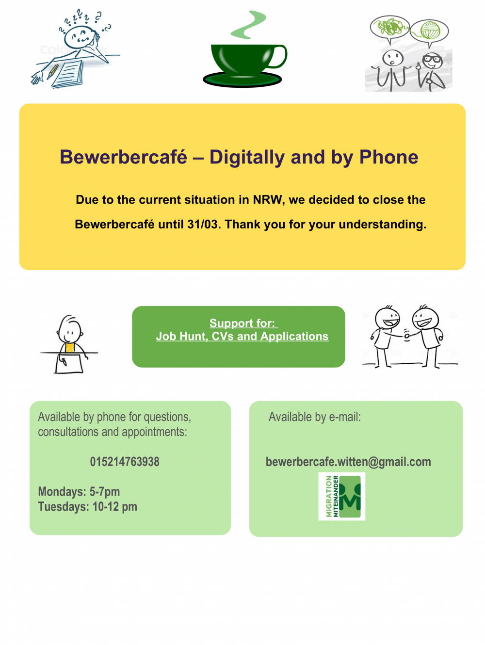Read more about the article Bewerbercafé News!