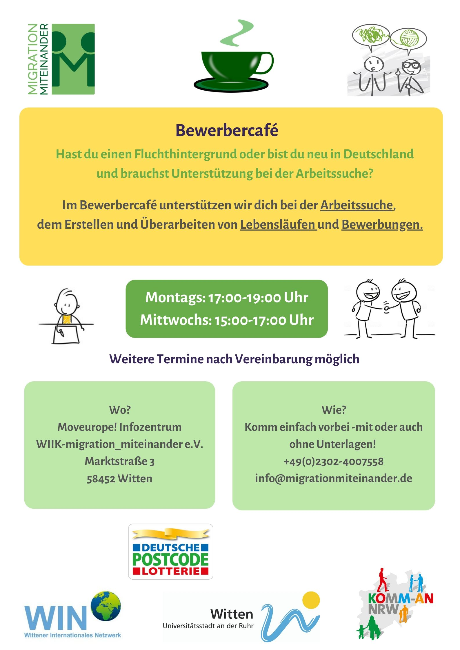 Read more about the article Bewerbercafe Geöffnet
