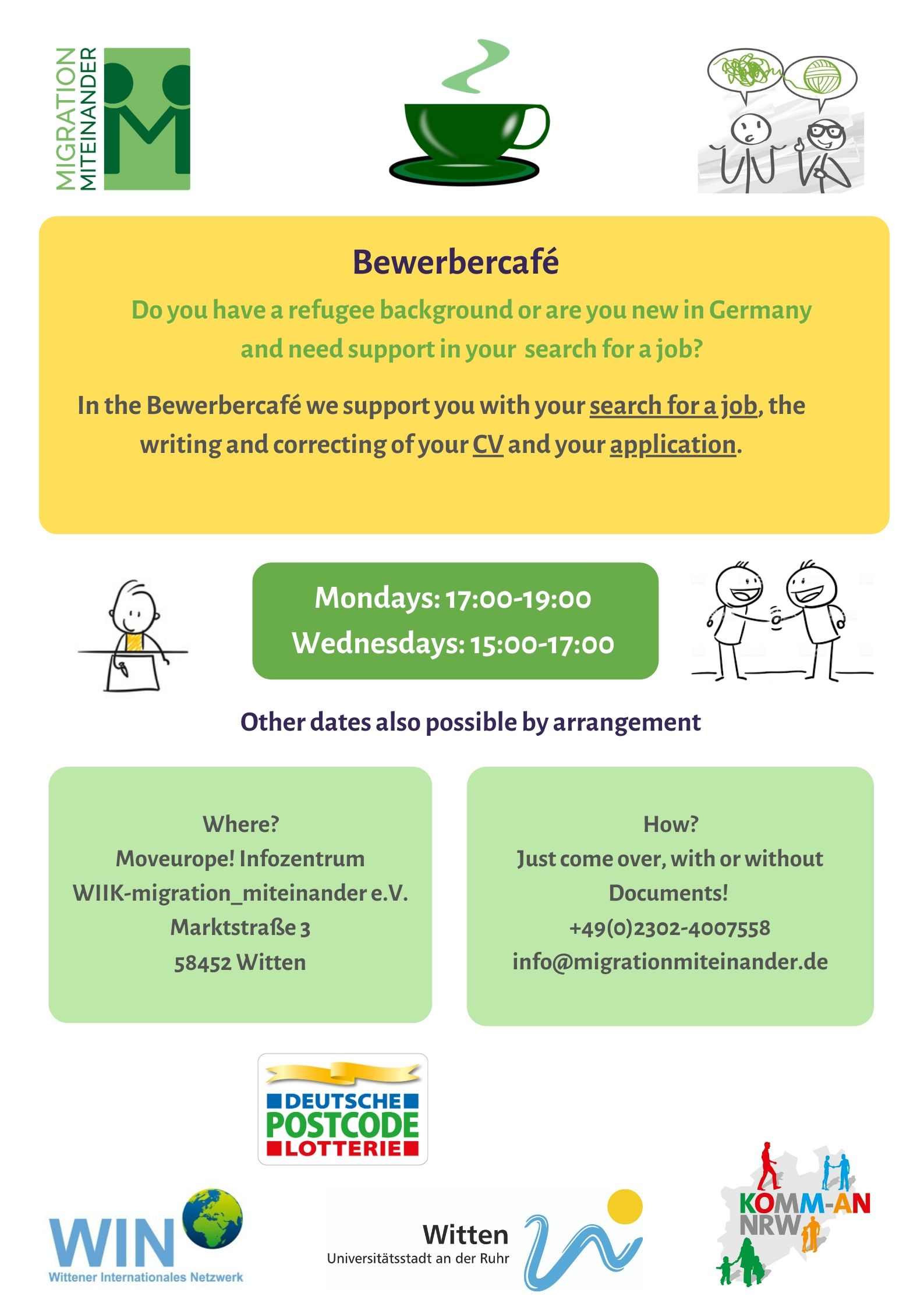 Bewerbercafe Open