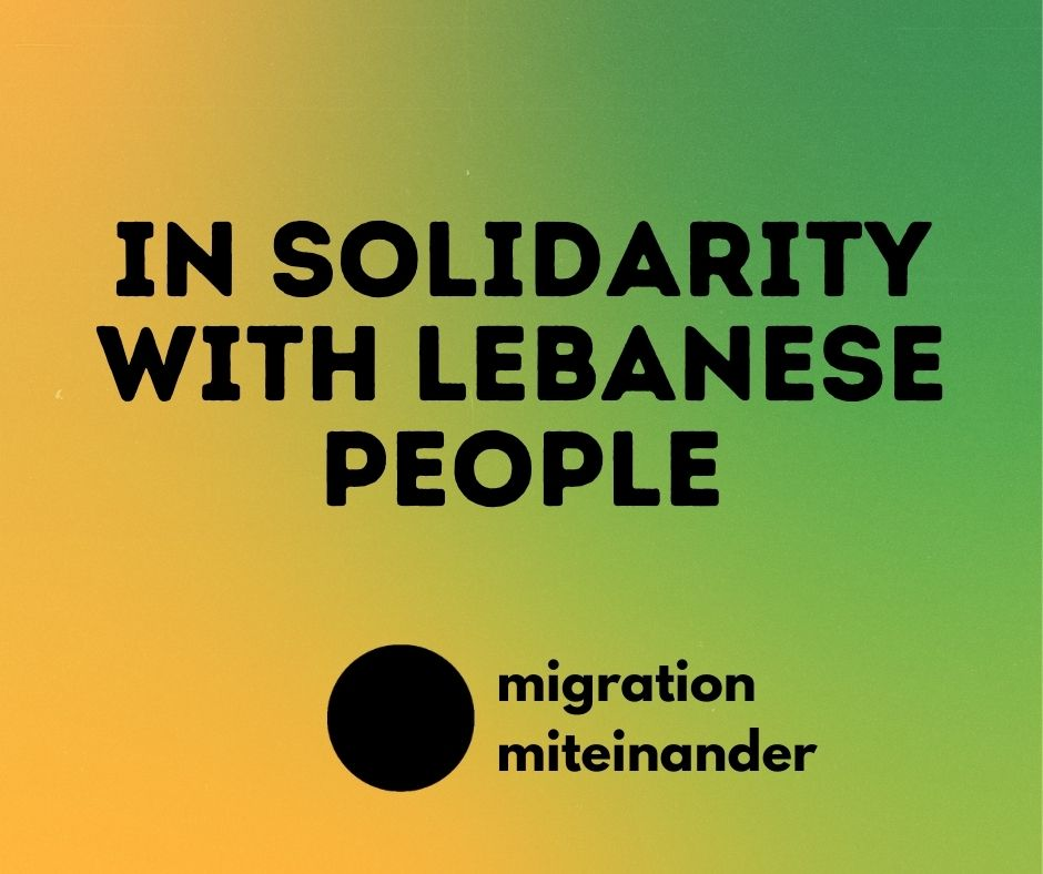 We stand in solidarity with the people of Lebanon