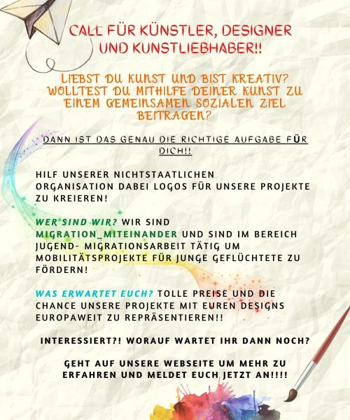 GER OPEN CALL for artists, DESIGNERS AND ART LOVERS!